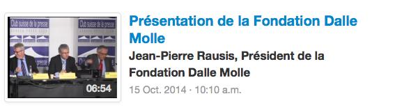 Présentation de la Fondation Dalle Molle Jean-Pierre Rausis, Président de la Fondation Dalle Molle