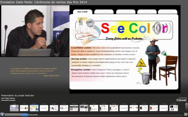 Présentation du projet SeeColor Juan Diego Gomez, Université de Genève